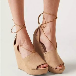 New Faryl robin from buckle peep toe lace up wedge
